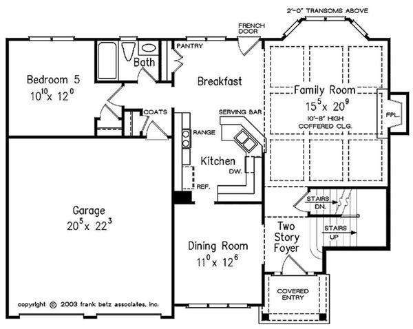 Colonial Floor Plan - Main Floor Plan Plan #927-21