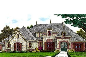 European Exterior - Front Elevation Plan #310-695