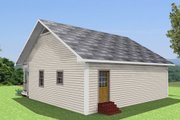 Country Style House Plan - 2 Beds 1 Baths 1007 Sq/Ft Plan #44-158 Exterior - Rear Elevation