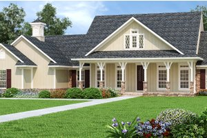 Dream House Plan - Craftsman Exterior - Front Elevation Plan #45-587