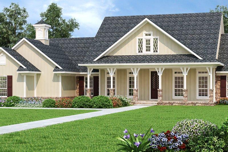 Dream House Plan - Craftsman Exterior - Front Elevation Plan #45-587