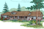 Ranch Style House Plan - 3 Beds 2.5 Baths 2514 Sq/Ft Plan #60-238 Exterior - Front Elevation