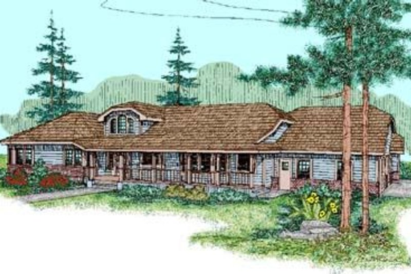 Architectural House Design - Ranch Exterior - Front Elevation Plan #60-238