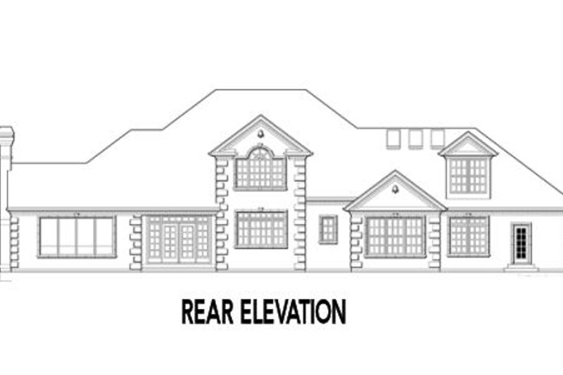 European Exterior - Rear Elevation Plan #48-349 - Houseplans.com