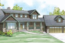 Dream House Plan - Craftsman Exterior - Front Elevation Plan #124-880