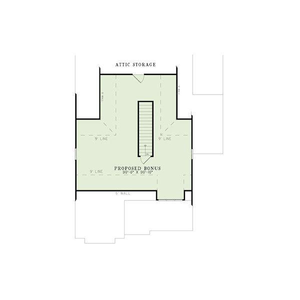 European Floor Plan - Other Floor Plan Plan #17-2412
