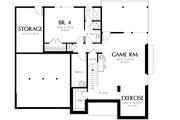 Prairie Style House Plan - 4 Beds 3.5 Baths 3651 Sq/Ft Plan #48-245 Floor Plan - Lower Floor