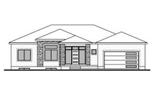 Home Plan - Contemporary Exterior - Front Elevation Plan #1073-20