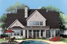 Craftsman Exterior - Rear Elevation Plan #929-833