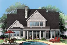Dream House Plan - Craftsman Exterior - Rear Elevation Plan #929-833