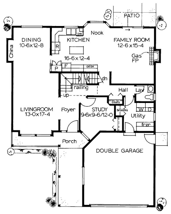 European Floor Plan - Main Floor Plan Plan #126-184