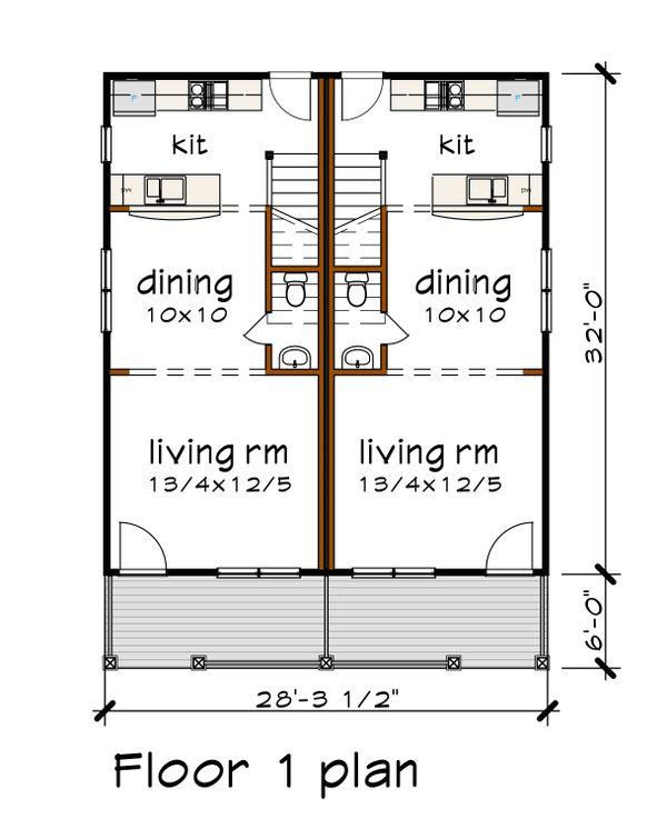 Southern Floor Plan - Main Floor Plan Plan #79-276