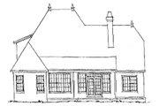 European Style House Plan - 4 Beds 3 Baths 2587 Sq/Ft Plan #20-321 Exterior - Rear Elevation