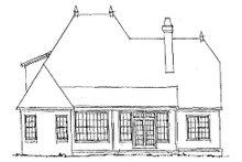European Exterior - Rear Elevation Plan #20-321