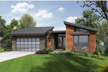 House Design - Modern Exterior - Front Elevation Plan #48-606