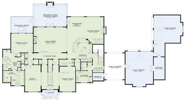 European Floor Plan - Main Floor Plan Plan #17-2461
