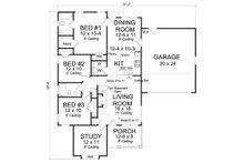 Cottage Floor Plan - Main Floor Plan Plan #513-2091