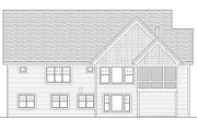 Craftsman Style House Plan - 4 Beds 4 Baths 4320 Sq/Ft Plan #51-563 Exterior - Rear Elevation