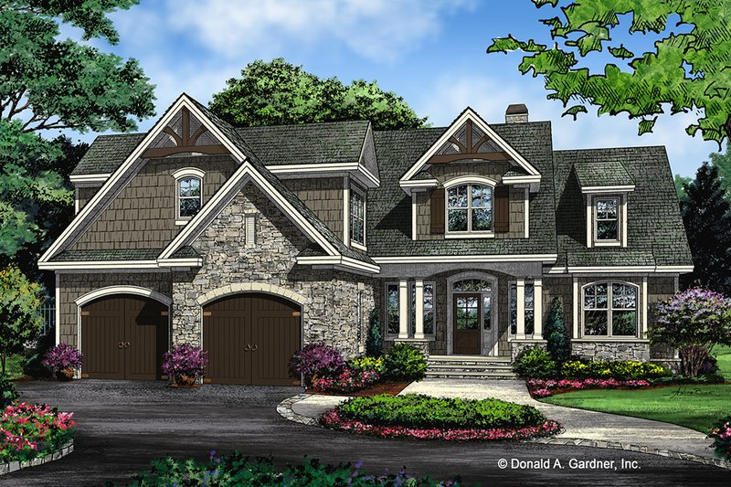 European Exterior - Front Elevation Plan #929-1033