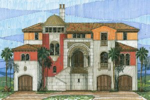 Mediterranean Exterior - Front Elevation Plan #426-1