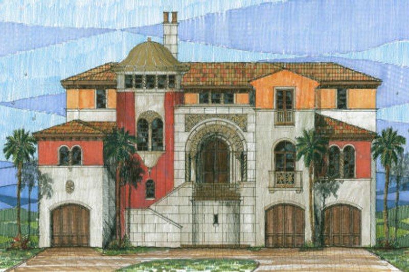 Mediterranean Style House Plan - 4 Beds 4.5 Baths 5996 Sq/Ft Plan #426-1