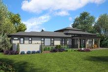 House Plan Design - Craftsman Exterior - Rear Elevation Plan #48-941