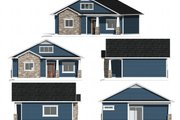 Ranch Style House Plan - 1 Beds 1 Baths 710 Sq/Ft Plan #1077-8 Exterior - Other Elevation