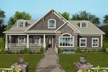 Craftsman Exterior - Front Elevation Plan #56-712