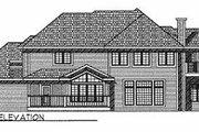 European Style House Plan - 4 Beds 3 Baths 3313 Sq/Ft Plan #70-505 Exterior - Rear Elevation