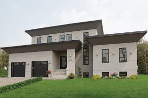 Front View - 3200 square foot Modern Home