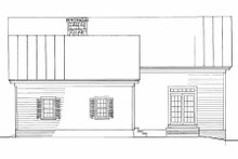 Southern Exterior - Rear Elevation Plan #137-208
