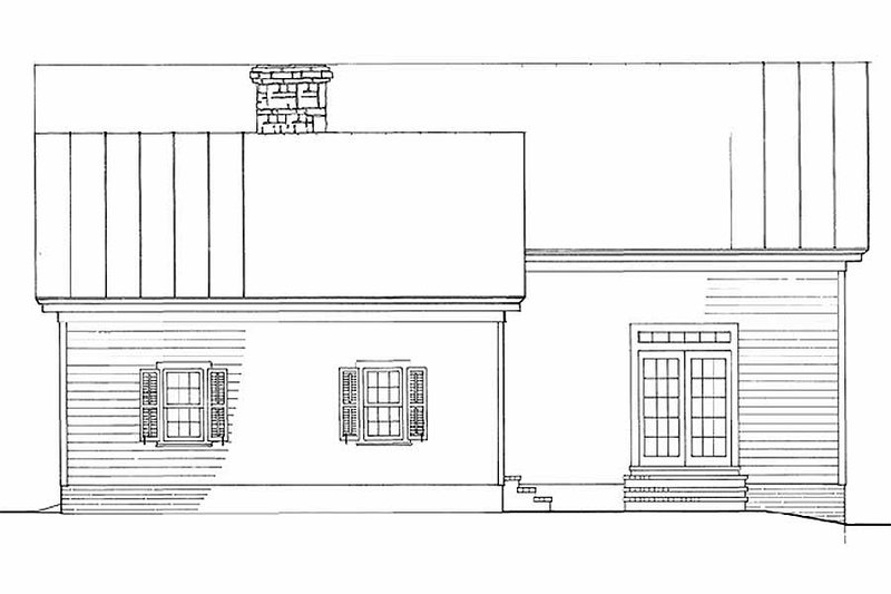 Southern Exterior - Rear Elevation Plan #137-208 - Houseplans.com