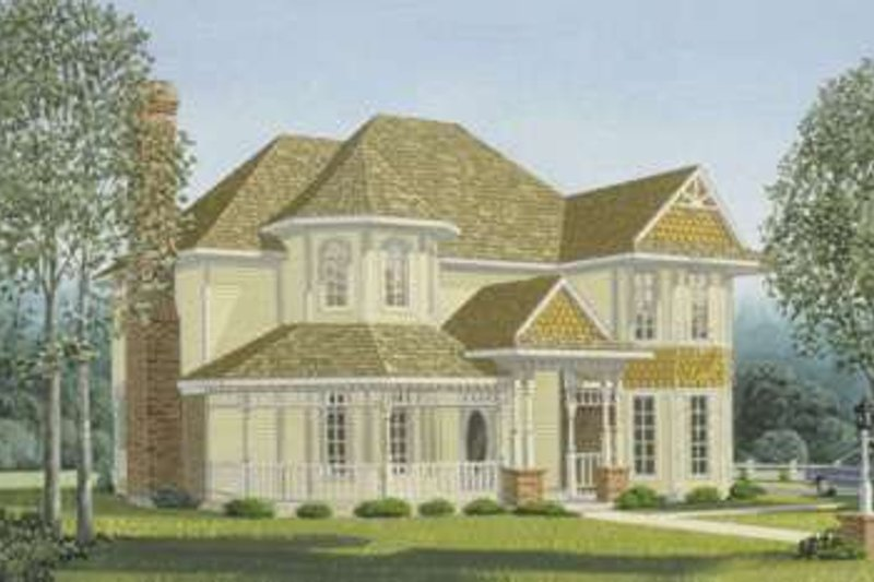 Dream House Plan - Victorian Exterior - Front Elevation Plan #410-107