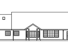 Dream House Plan - Ranch Exterior - Rear Elevation Plan #124-391