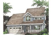 Country Style House Plan - 3 Beds 2.5 Baths 1518 Sq/Ft Plan #20-238 Exterior - Front Elevation
