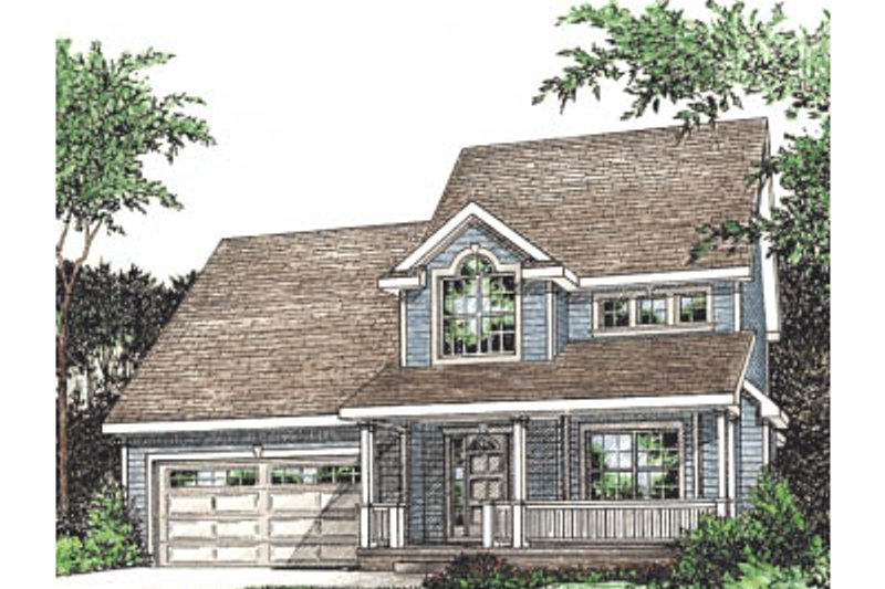 Country Exterior - Front Elevation Plan #20-238