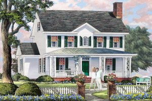 Home Plan - Country Exterior - Front Elevation Plan #137-378