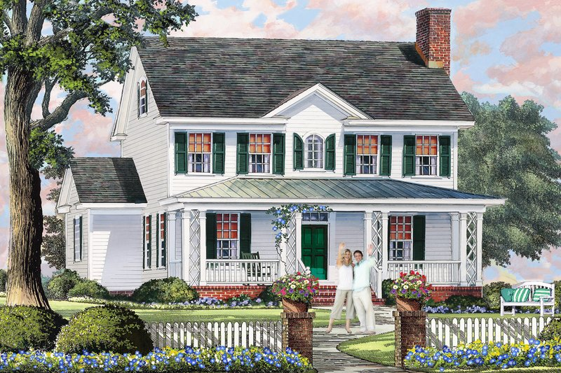 Dream House Plan - Country Exterior - Front Elevation Plan #137-378