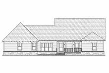 Dream House Plan - Craftsman Exterior - Rear Elevation Plan #21-295