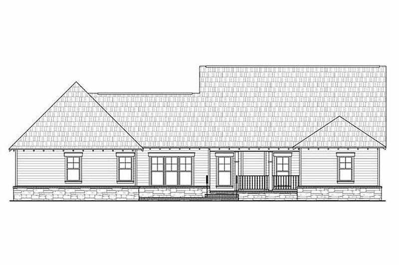 Craftsman Exterior - Rear Elevation Plan #21-295 - Houseplans.com