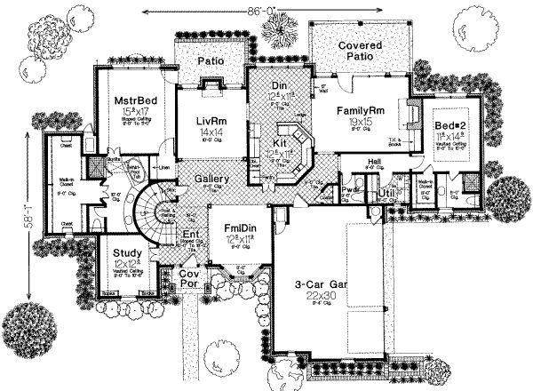 European Floor Plan - Main Floor Plan #310-227