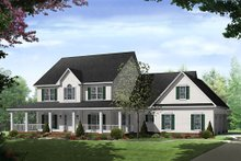 Country Exterior - Front Elevation Plan #21-269