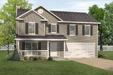 Country Exterior - Front Elevation Plan #22-208
