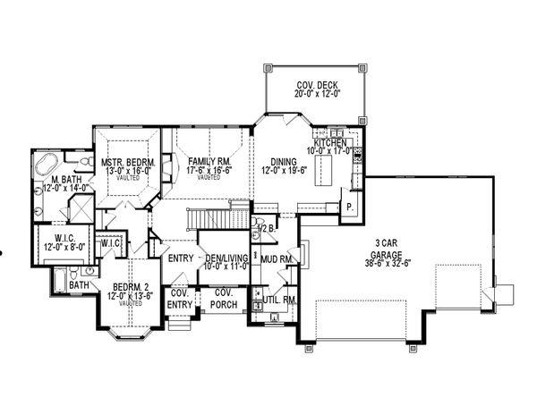 European Floor Plan - Main Floor Plan Plan #920-60