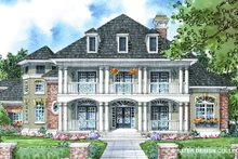 Southern Exterior - Front Elevation Plan #930-270