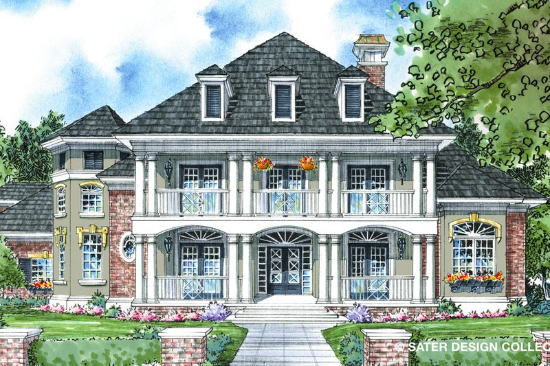House Plan Design - Southern Exterior - Front Elevation Plan #930-270