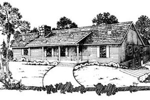 Ranch Exterior - Front Elevation Plan #10-129