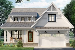 Dream House Plan - Farmhouse Exterior - Front Elevation Plan #51-1166