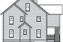 Home Plan - Traditional Exterior - Rear Elevation Plan #23-869