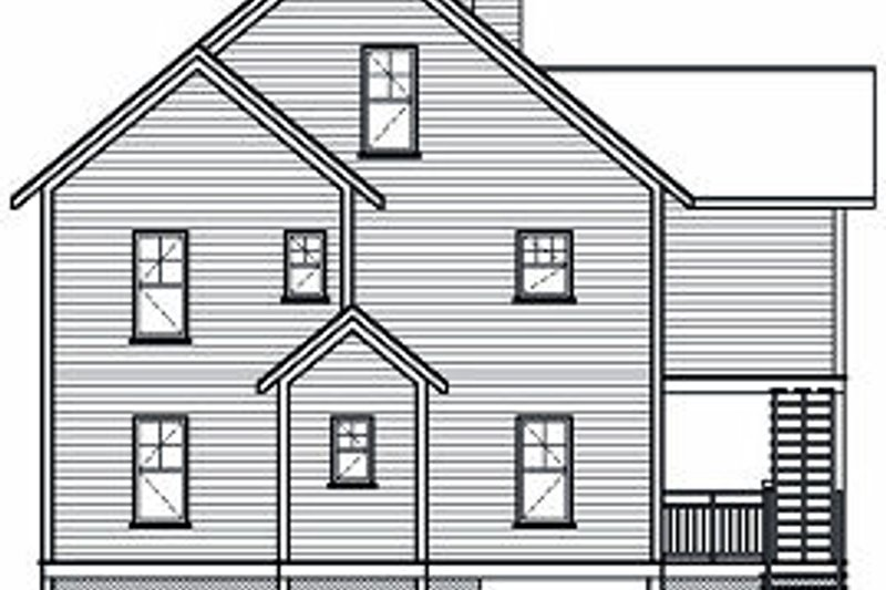 Traditional Exterior - Rear Elevation Plan #23-869 - Houseplans.com